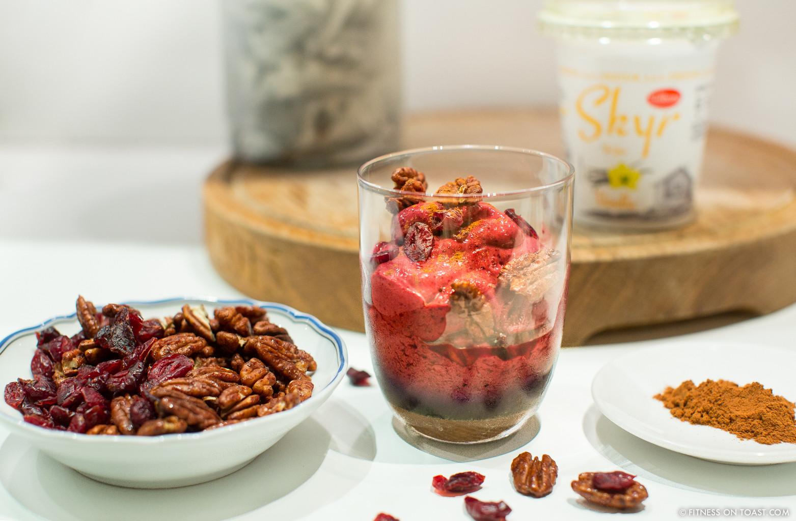 Healthy Tasty Desserts  Festive Scandi Skyr Yoghurt Dessert Recipe Christmas Xmas