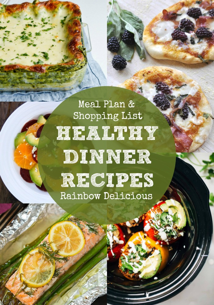 Healthy Tasty Dinner Recipes  Healthy Dinner Recipes Meal Plan Rainbow Delicious