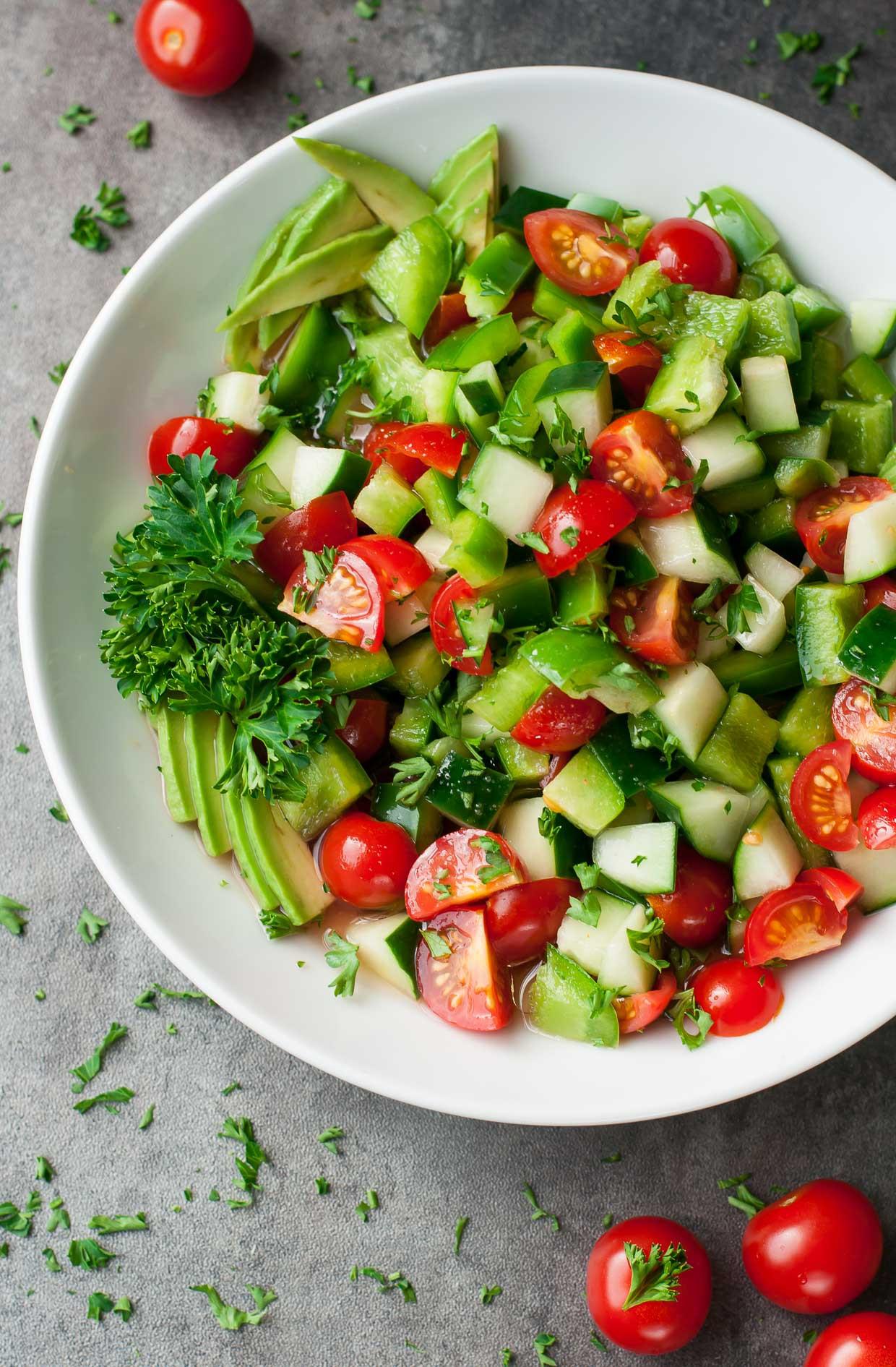 Healthy Tasty Salads  Healthy Tomato Cucumber Avocado Salad