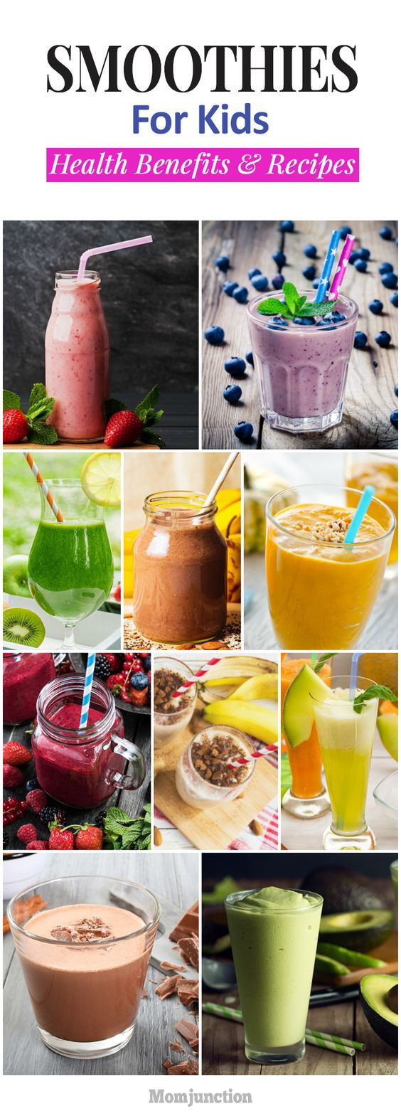Healthy Tasty Smoothies  Kid Healthy and Children on Pinterest