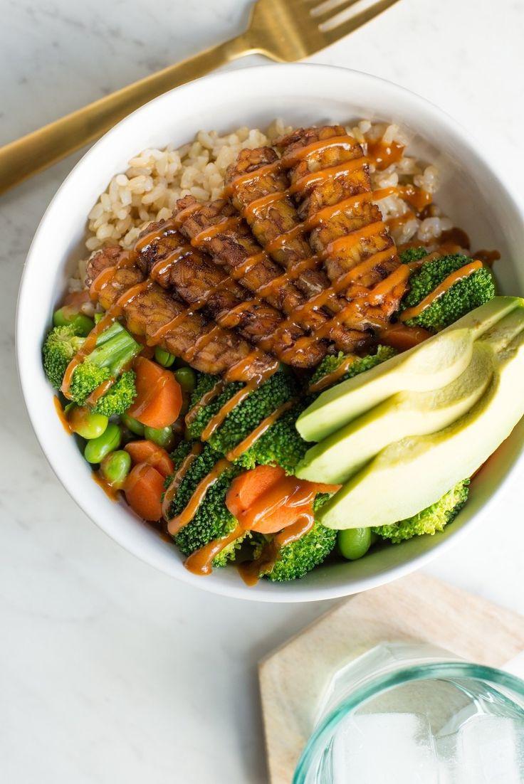 Healthy Tempeh Recipes  Spicy Peanut Tempeh Bowls Receta