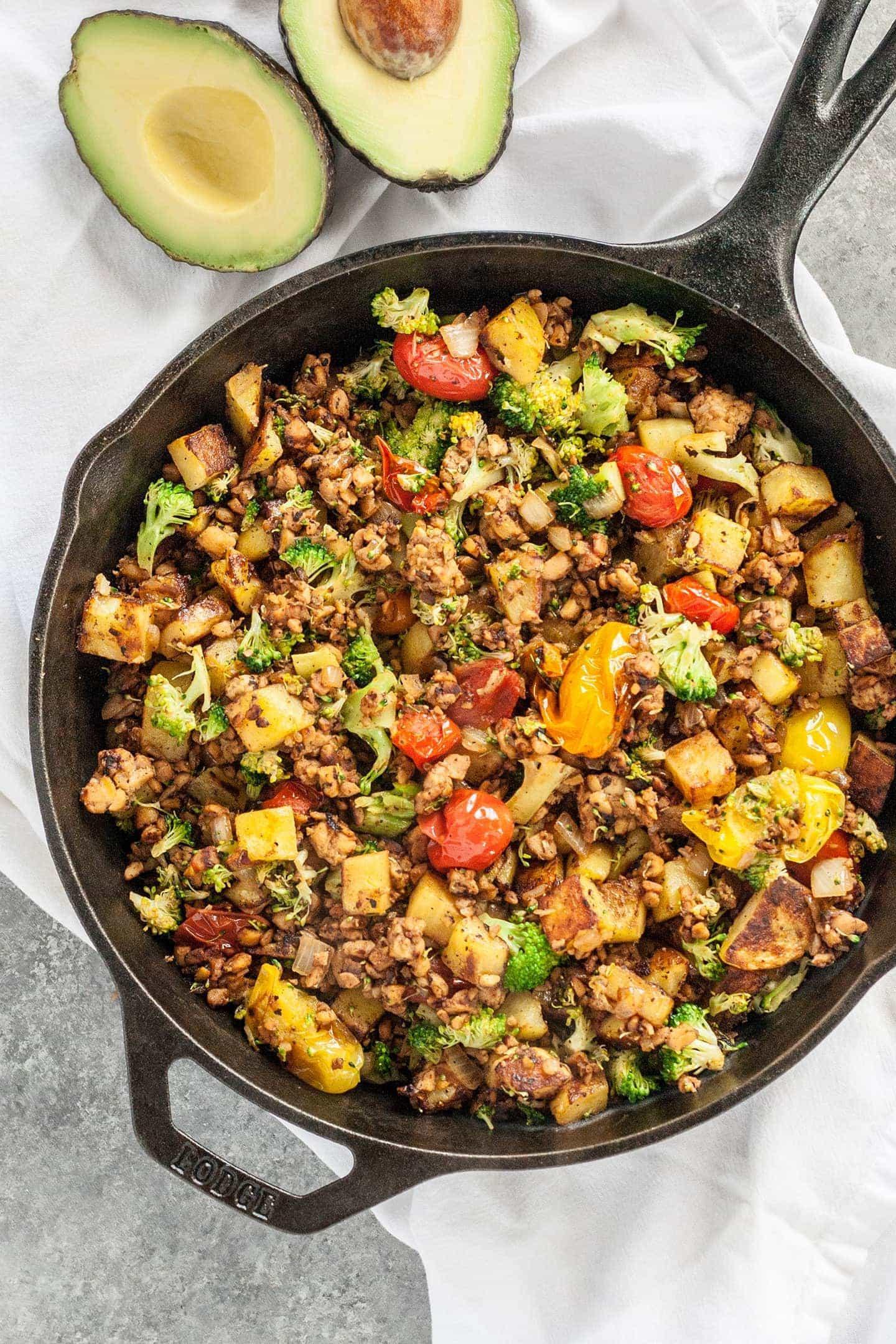 Healthy Tempeh Recipes  Savory Tempeh Breakfast Hash Recipe