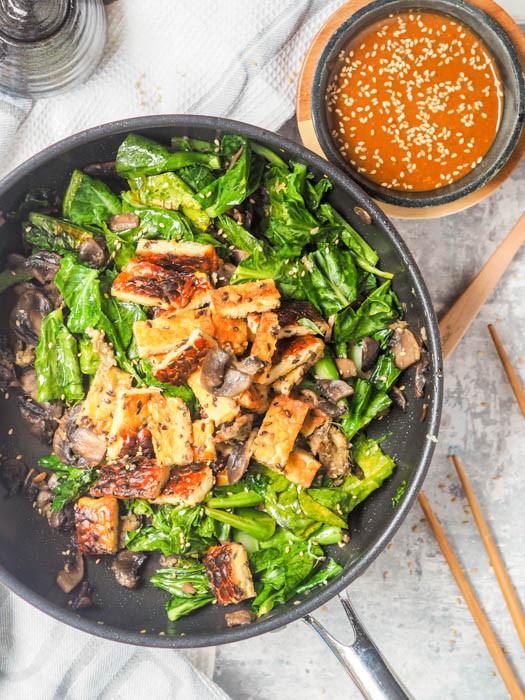 Healthy Tempeh Recipes  Tempeh Stir Fry with Mushrooms and Broccoli GF Vegan