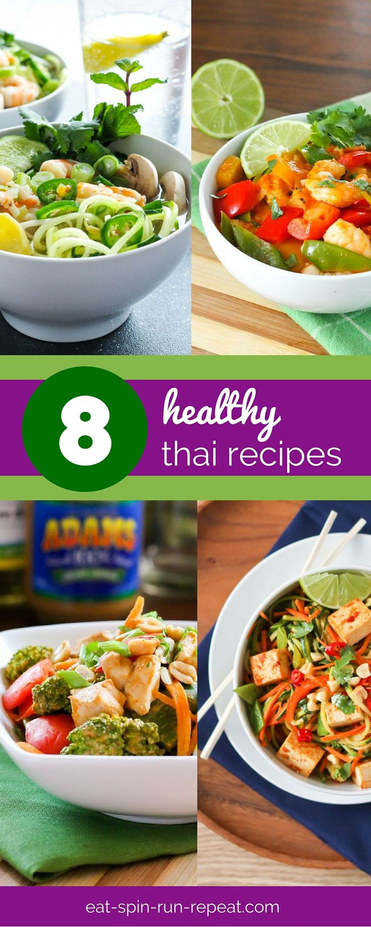 Healthy Thai Food Recipes  A roundup of 8 clean eating approved healthy Thai Recipes