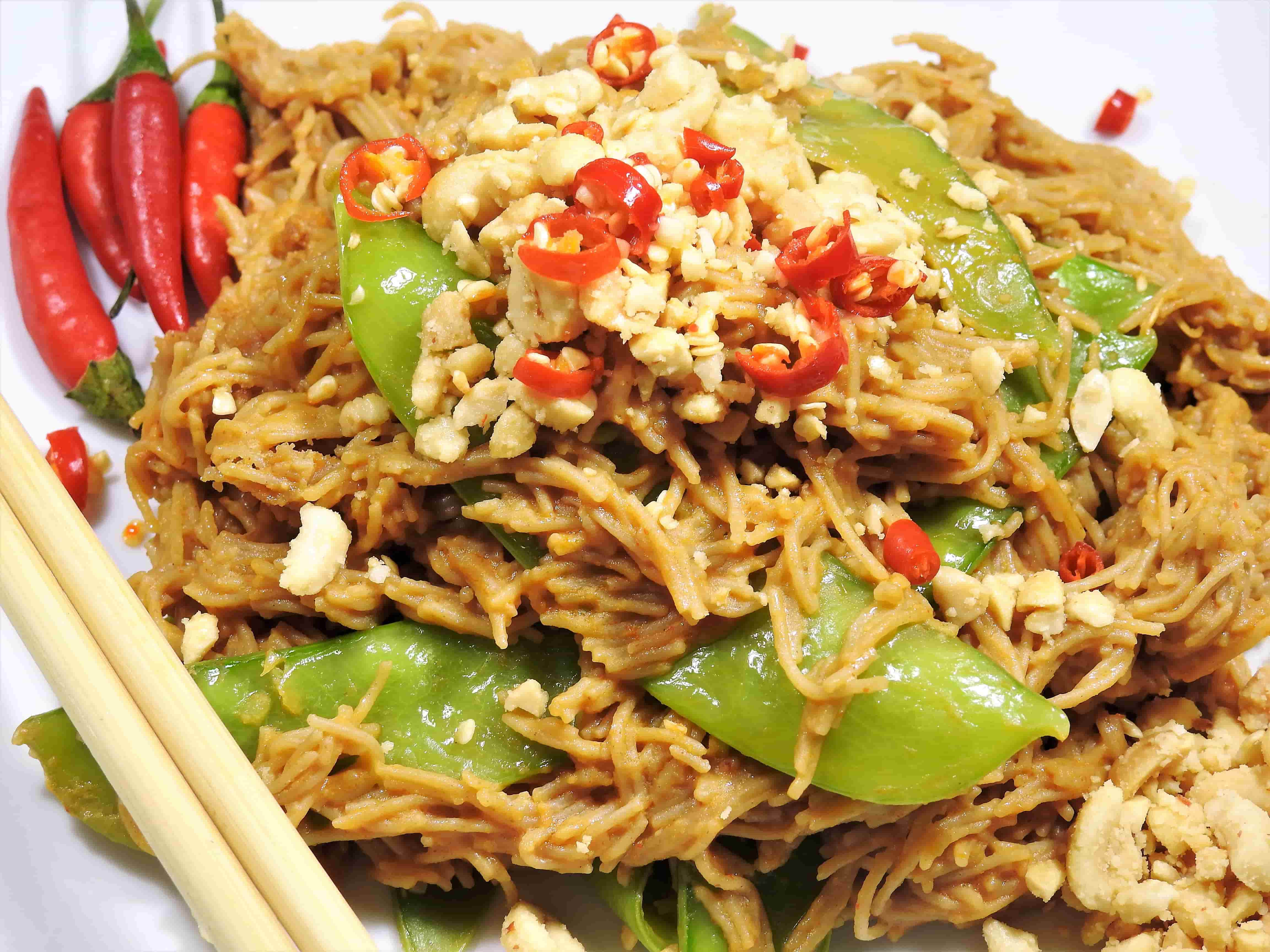 Healthy Thai Food Recipes  4 Ingre nt Peanut Brown Rice Vermicelli Noodles