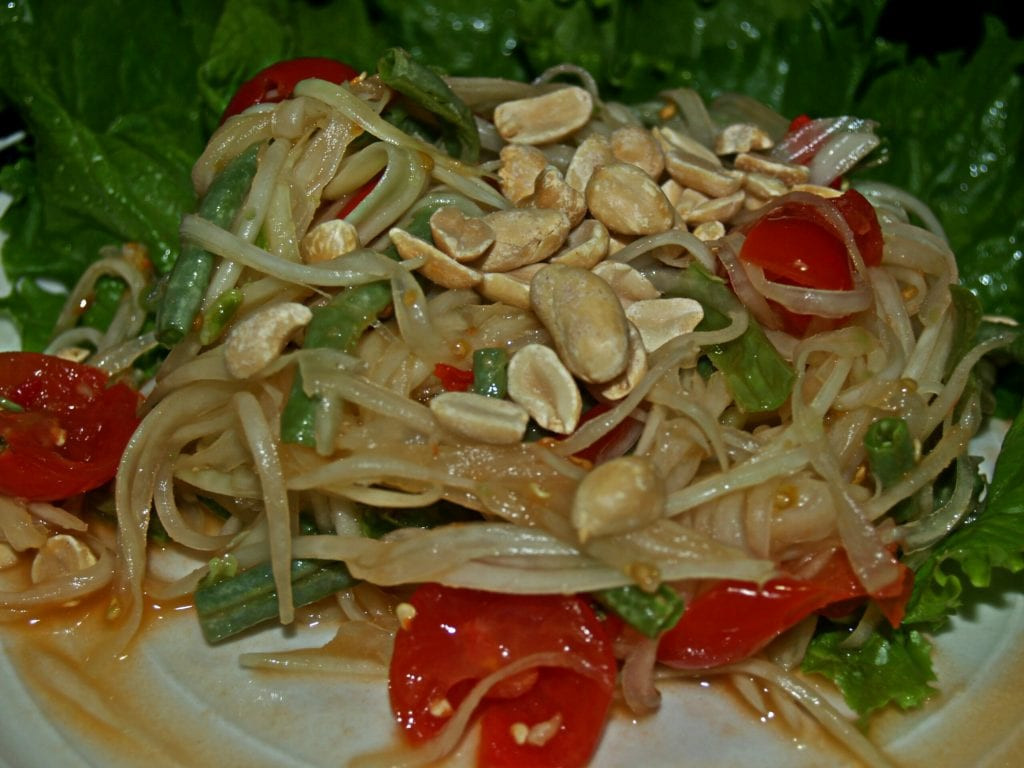 Healthy Thai Food Recipes  Healthier Green Papaya Salad ส้มตำไทย Healthy Thai Recipes