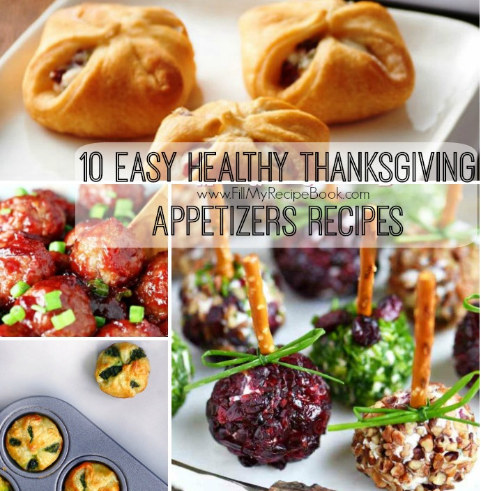 Healthy Thanksgiving Appetizers Easy  10 Easy Healthy Thanksgiving Appetizers Recipes Fill My