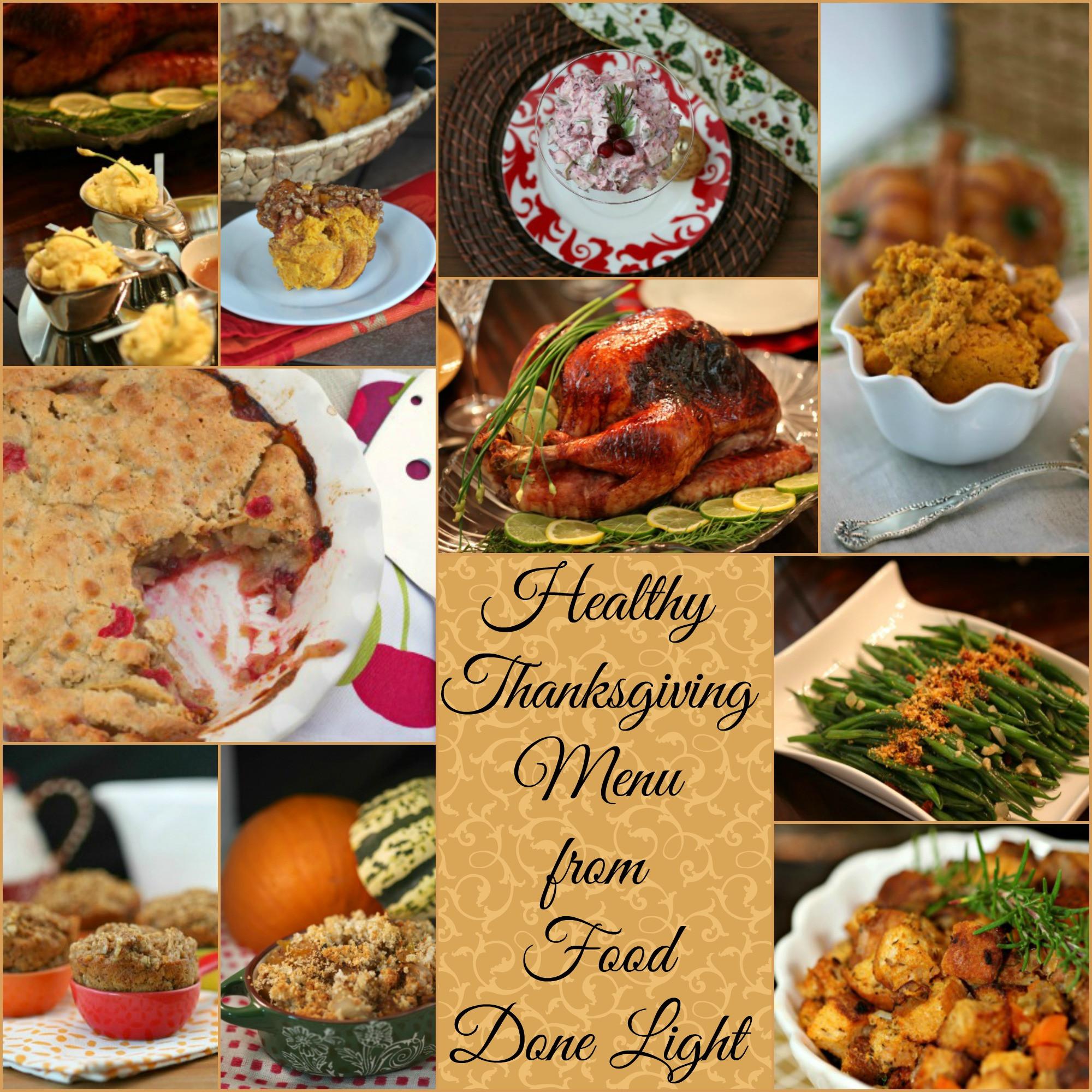 Healthy Thanksgiving Food  Food Done Light Healthy Thanksgiving Menu