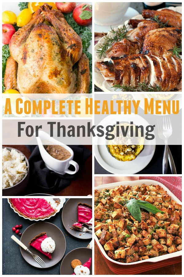 Healthy Thanksgiving Menu  A plete Healthy Menu for Thanksgiving Primavera Kitchen