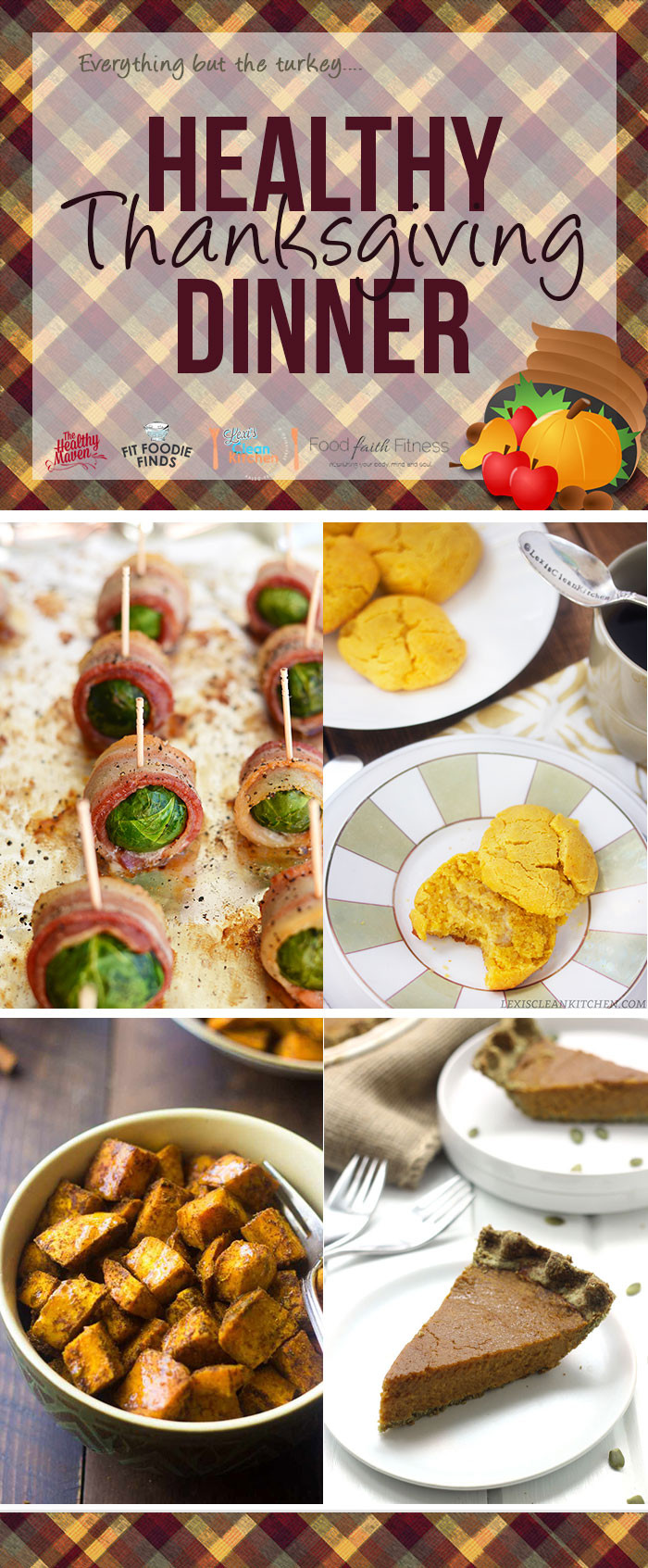Healthy Thanksgiving Recipes  Bacon Wrapped Brussels Sprouts
