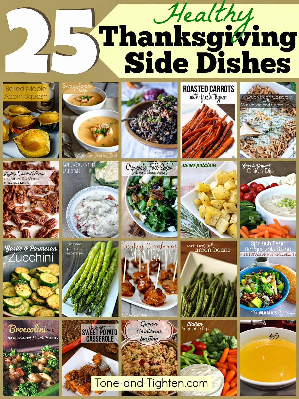 Healthy Thanksgiving Sides  25 Healthy Thanksgiving Side Dishes – Healthier options