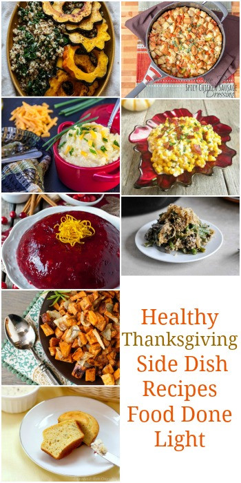 Healthy Thanksgiving Sides  Healthy Thanksgiving Sides & Desserts Recipes Food Done