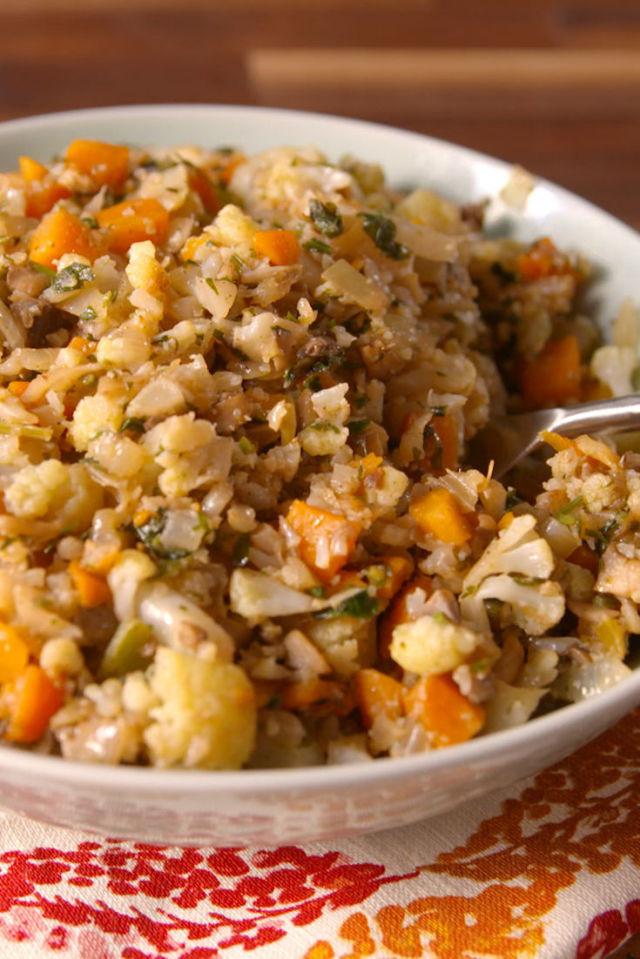 Healthy Thanksgiving Stuffing  Cauliflower Stuffing – Katie s Bright Kitchen