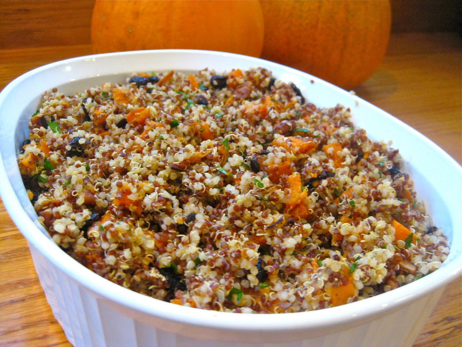 Healthy Thanksgiving Stuffing  Quinoa Stuffing Recipe Gluten Free & Vegan