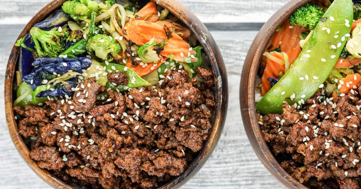 Healthy Things To Make With Ground Beef  Healthy Korean Ground Beef with Ve ables Slender Kitchen