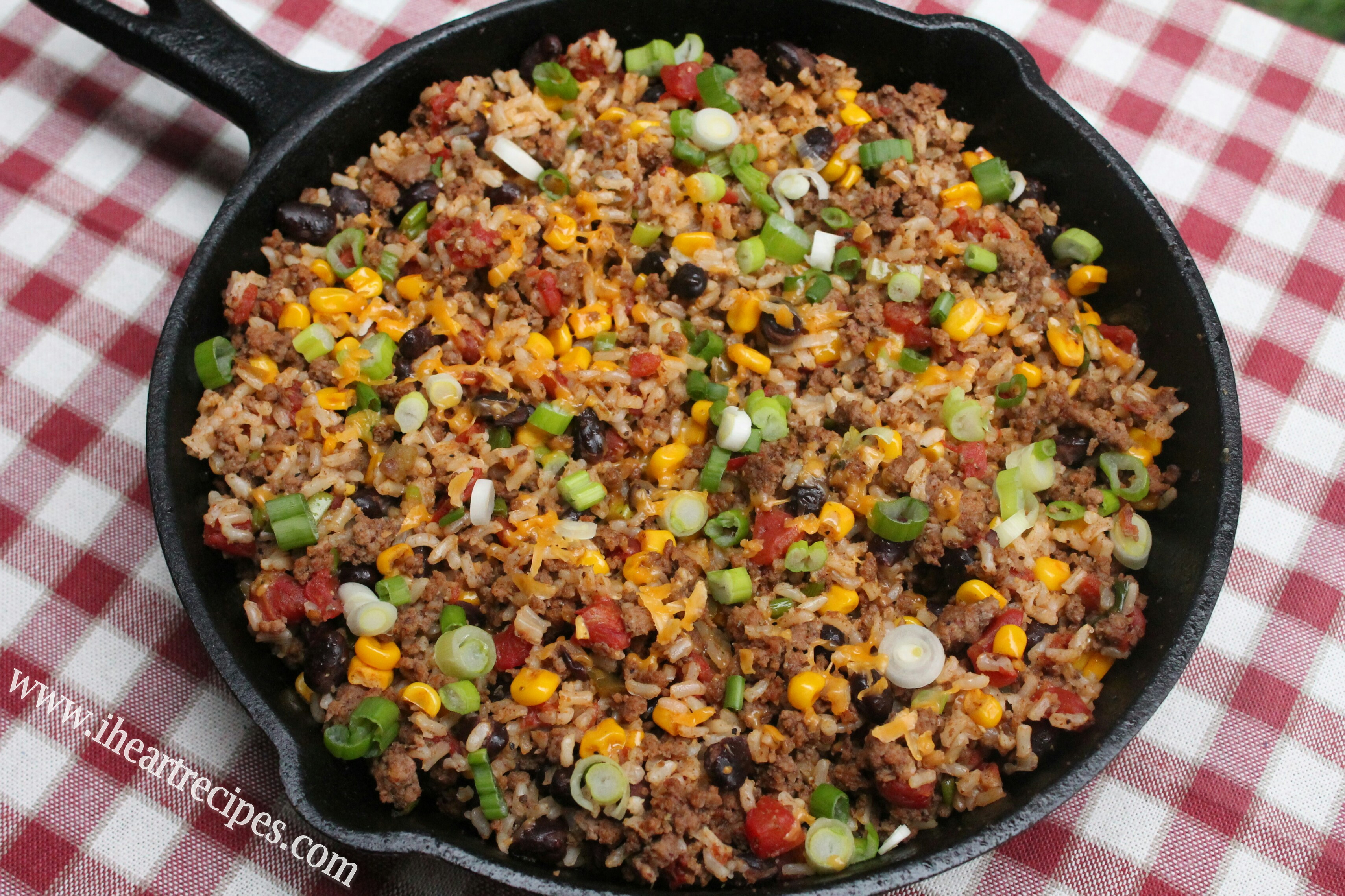 Healthy Things To Make With Ground Beef  Tex Mex Ground Beef Skillet I Heart Recipes