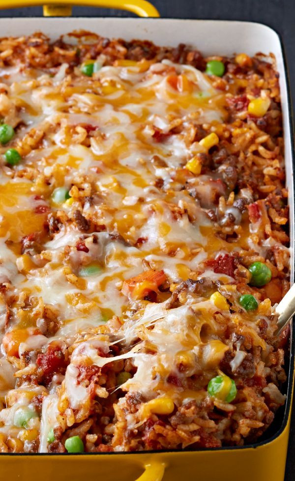 Healthy Things To Make With Ground Beef  Mexican Beef and Rice Casserole – Here s a tasty—and