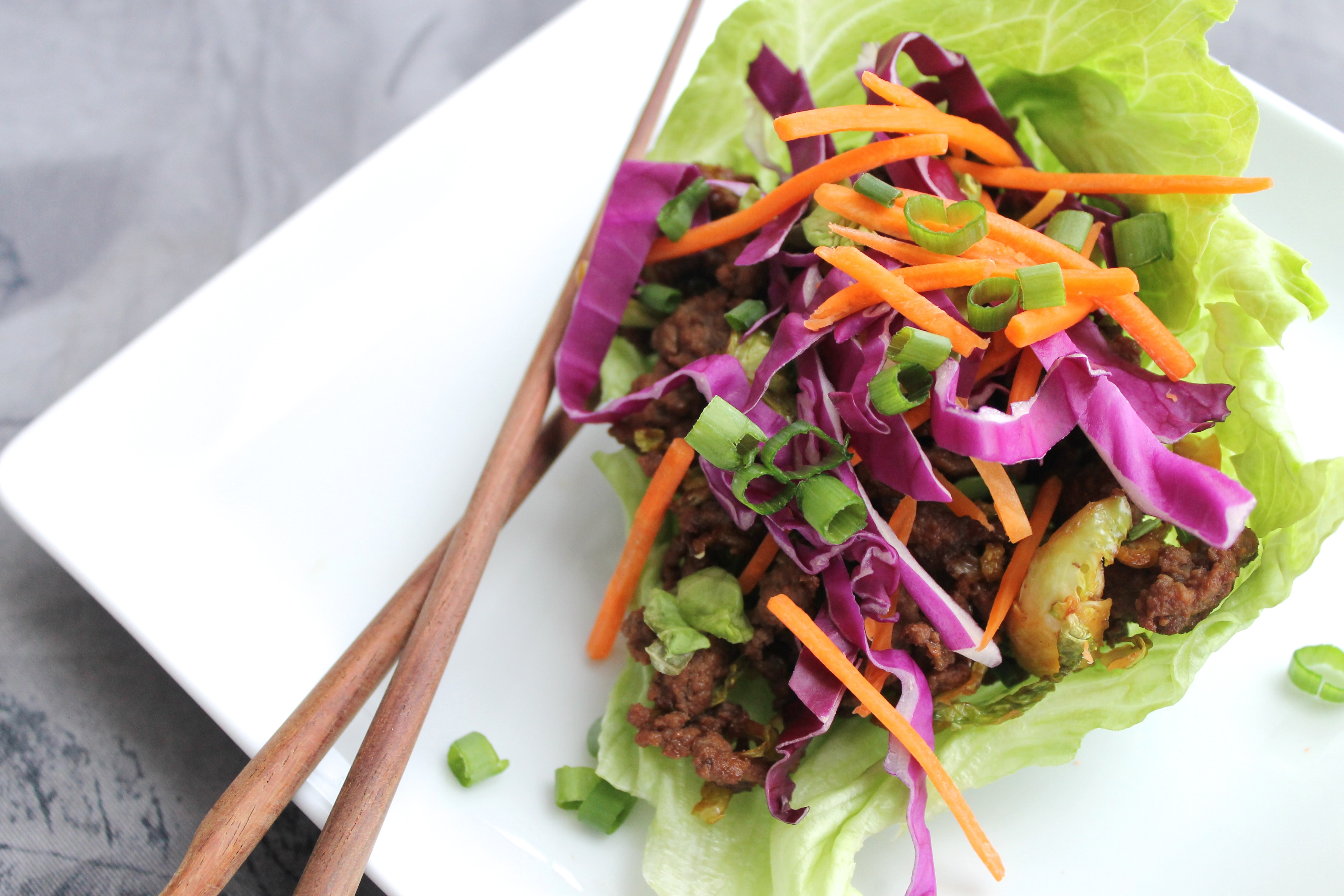 Healthy Things To Make With Ground Beef  Asian Ground Beef and Veggie Lettuce Wraps Recipe Paleo Plan
