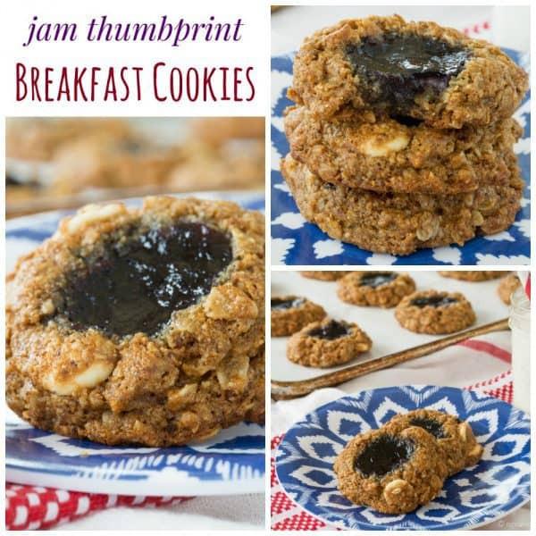 Healthy Thumbprint Cookies  healthy oatmeal thumbprint cookies