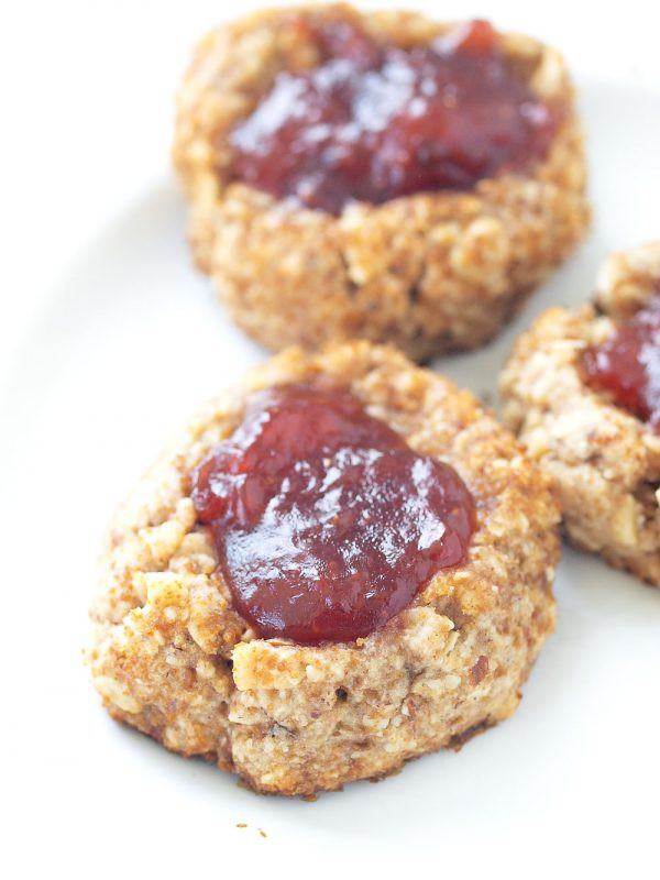 Healthy Thumbprint Cookies  Healthy Thumbprint Cookies