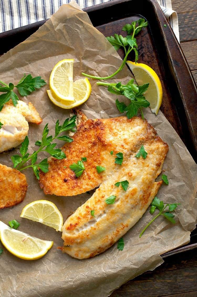 Healthy Tilapia Fish Recipes  5 Ingre nt Garlic Parmesan Tilapia The Seasoned Mom