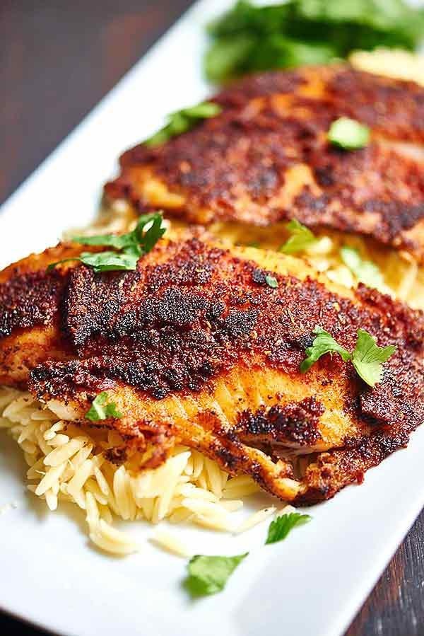 Healthy Tilapia Fish Recipes  Blackened Tilapia with Homemade Spice Rub Healthy