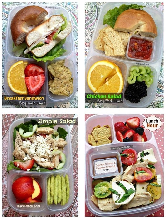 Healthy To Go Lunches  healthy lunches to pack for work
