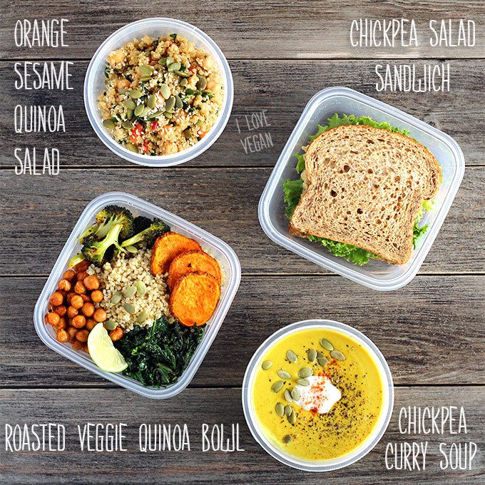 Healthy To Go Lunches  Healthy Plant Based Lunches on the Go I LOVE VEGAN