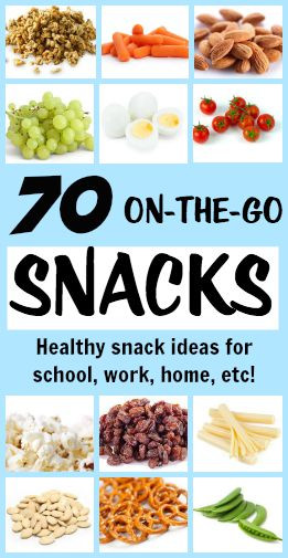 Healthy To Go Snacks  70 Portable Healthy Snacks