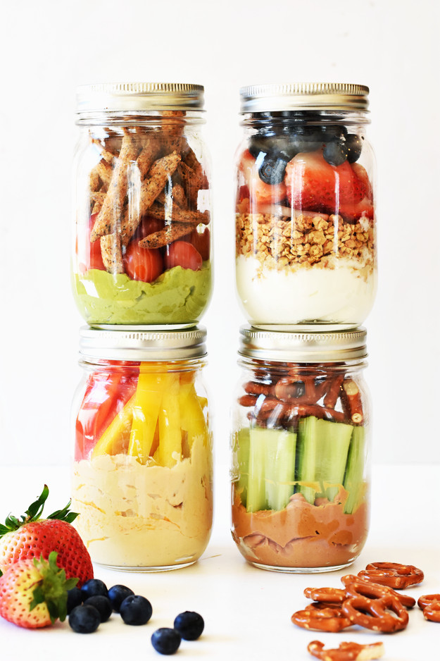 Healthy To Go Snacks  4 Healthy Grab and Go Snack Jars