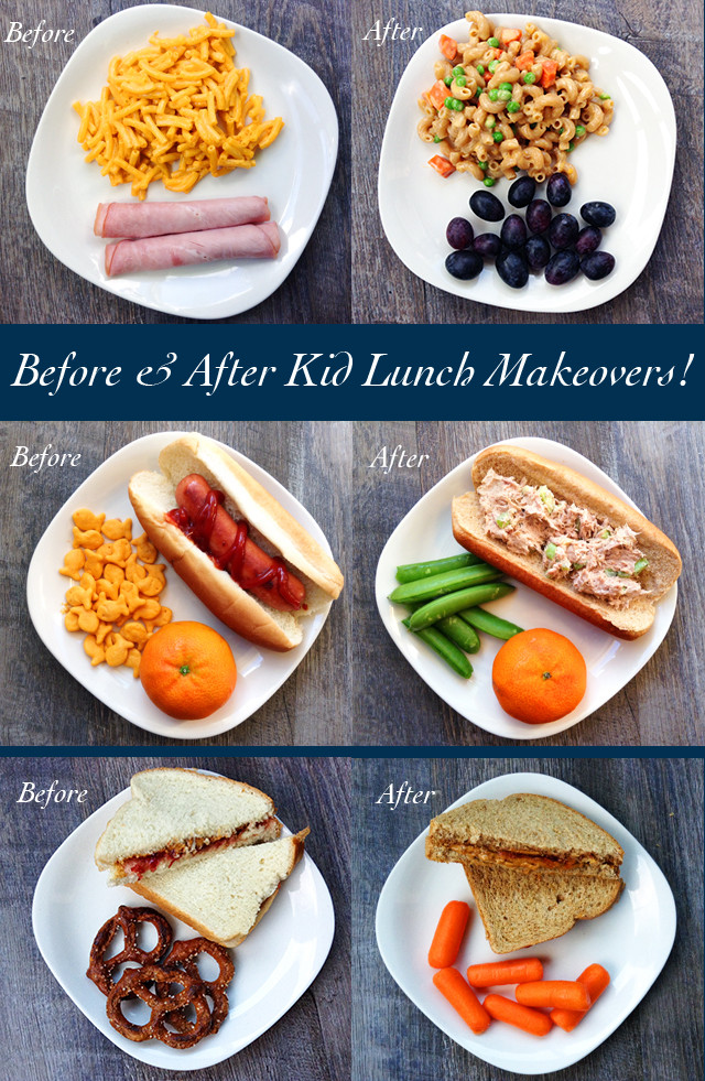 Healthy Toddler Lunches  Before and After Kid Lunch Makeovers