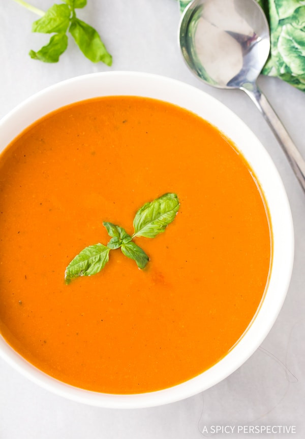 Healthy Tomato Bisque Recipe  Healthy Tomato Basil Bisque A Spicy Perspective