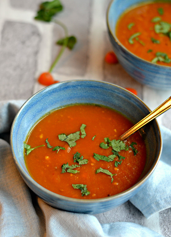 Healthy Tomato Soup Recipe  Vegan carrot tomato soup with tamarind