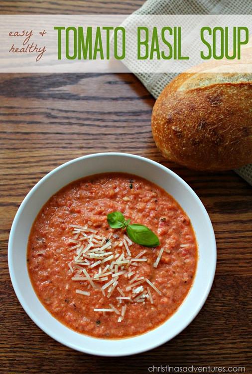 Healthy Tomato Soup Recipe  Easy & Healthy Tomato Basil Soup Recipe Christinas
