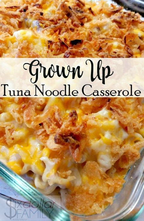 Healthy Tuna Noodle Casserole Recipe  Casserole Recipes Grown Up Tuna Noodle Casserole