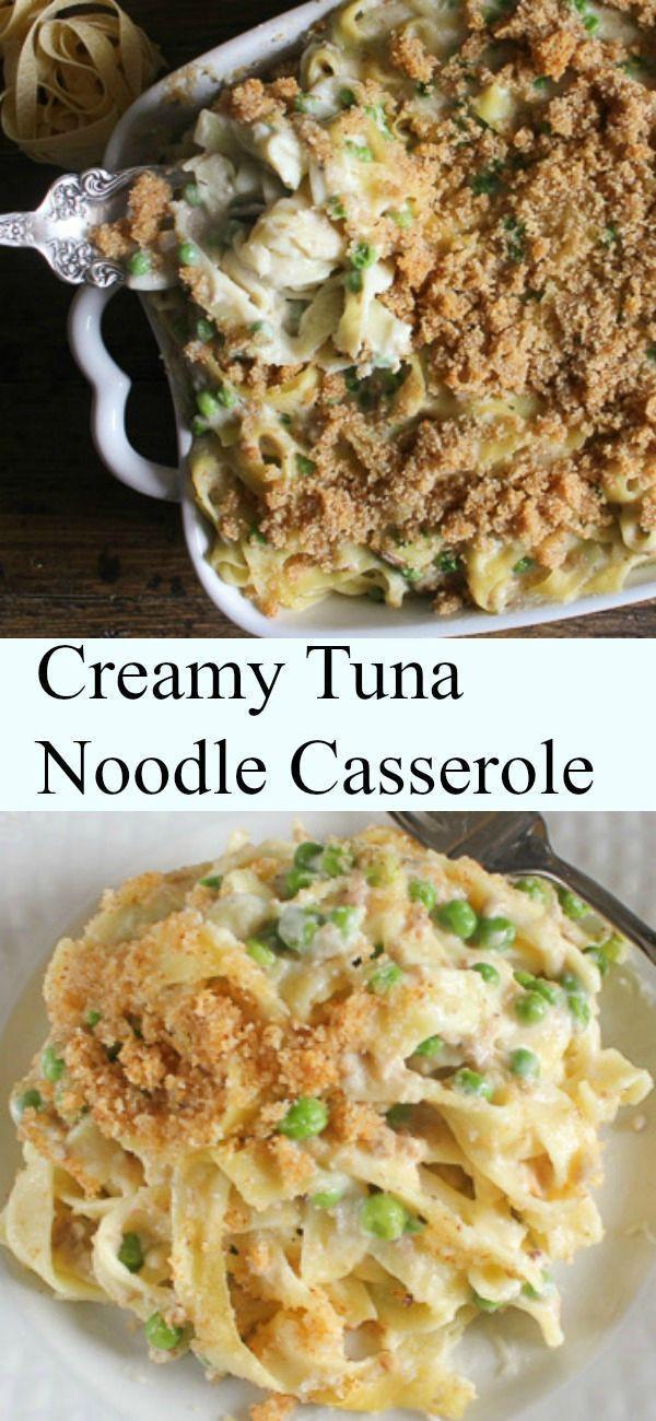 Healthy Tuna Noodle Casserole Recipe  Creamy Tuna Noodle Casserole quick easy and so creamy a