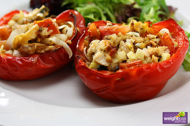 Healthy Tuna Recipes Weight Loss  Stuffed Capsicum with Tuna