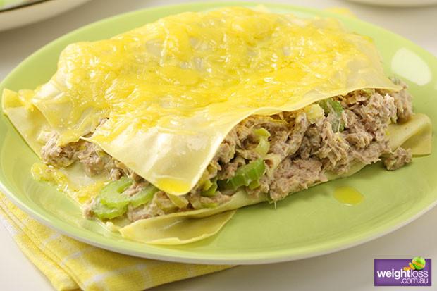 Healthy Tuna Recipes Weight Loss  Tuna & Leek Open Lasagne