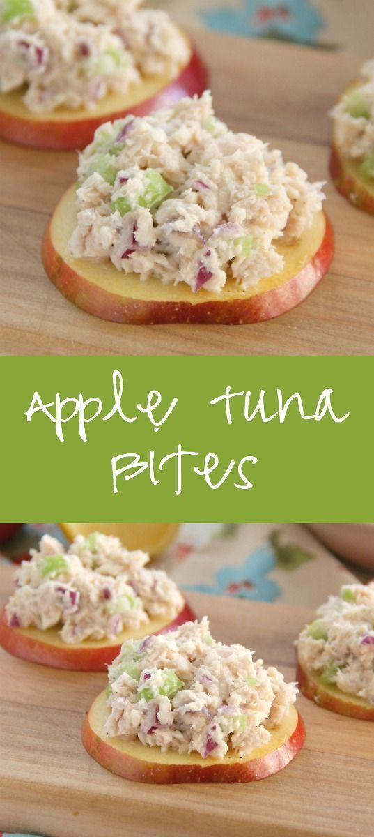 Healthy Tuna Recipes Weight Loss  Apple Tuna Bites perfect for a low carb lunch or snack