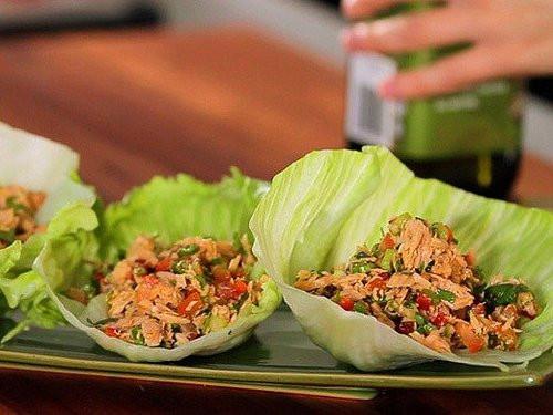 Healthy Tuna Snacks  No Carb Snacks Healthy Tuna and Lettuce Cups