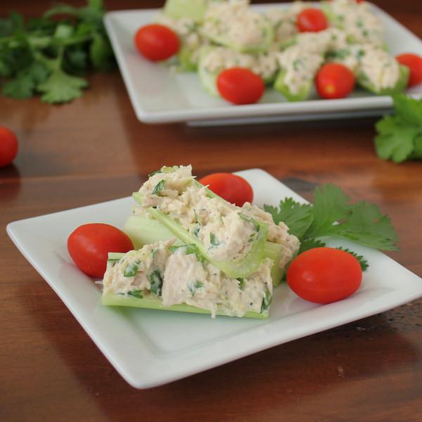 Healthy Tuna Snacks  Healthy Tuna Salad Celery Sticks Snack