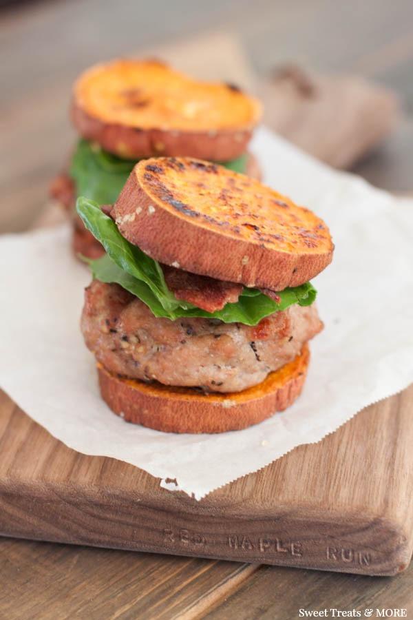 Healthy Turkey Burgers Without Bread  Sweet Potato Turkey Burger Sliders Boys Ahoy