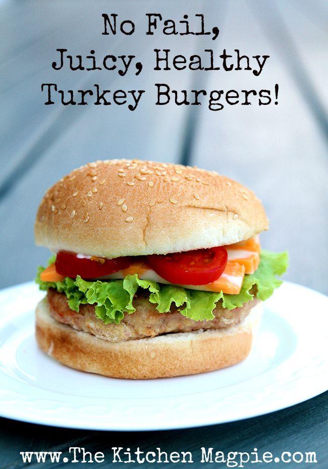 Healthy Turkey Burgers Without Bread  Best 25 Turkey burgers ideas on Pinterest