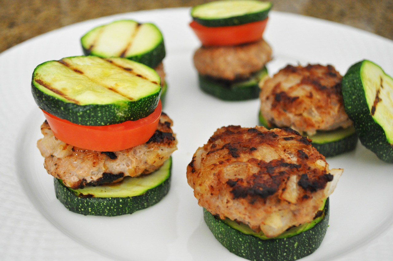 Healthy Turkey Burgers Without Bread  Turkey Sliders with Zucchini Buns These are