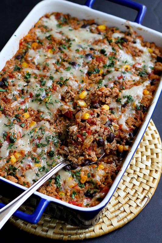 Healthy Turkey Casserole Recipes  Southwestern Turkey Rice Casserole Recipe Cookin Canuck