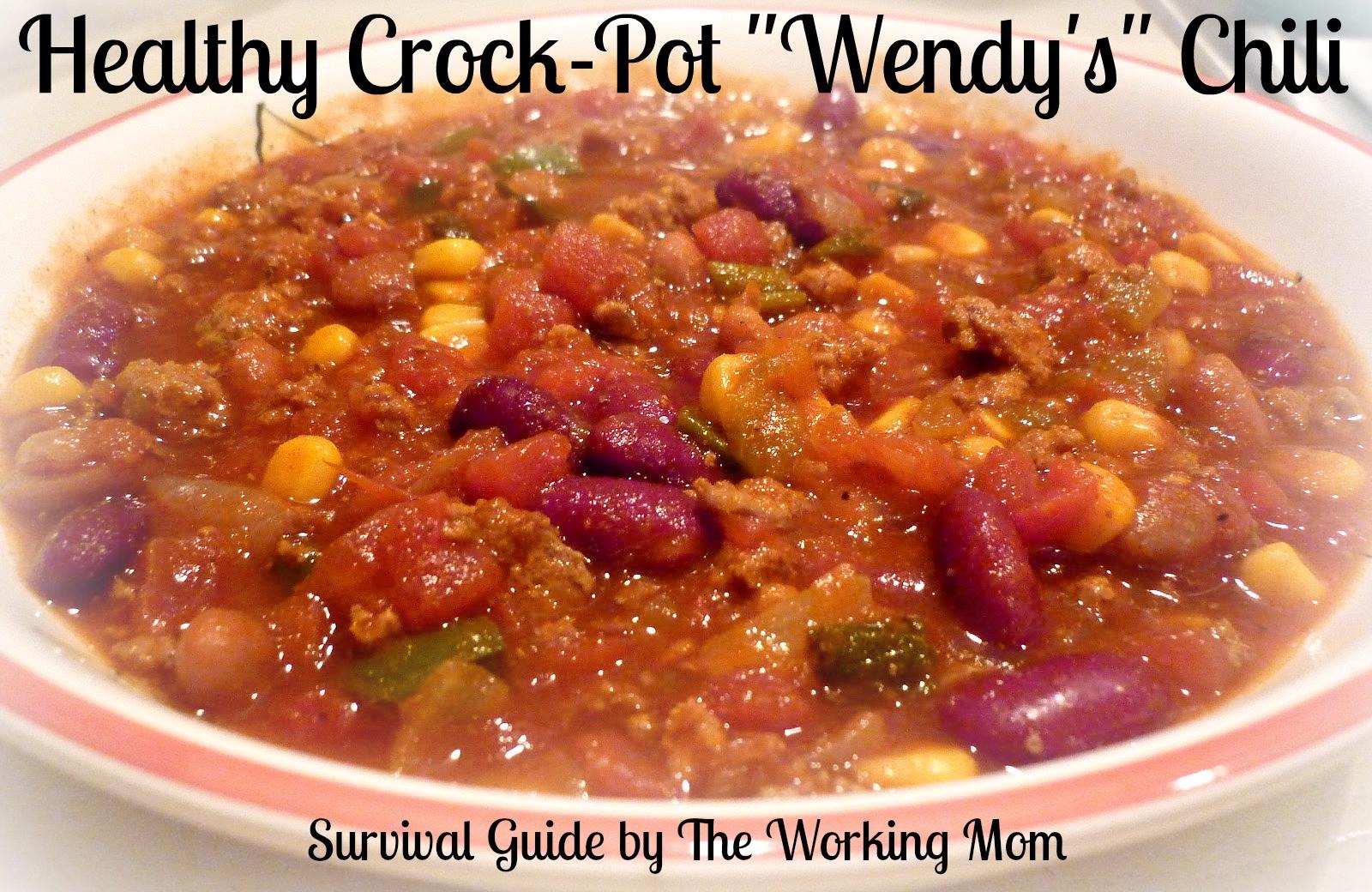 Healthy Turkey Chili Crockpot  Healthy Crockpot Wendy s Chili Recipe