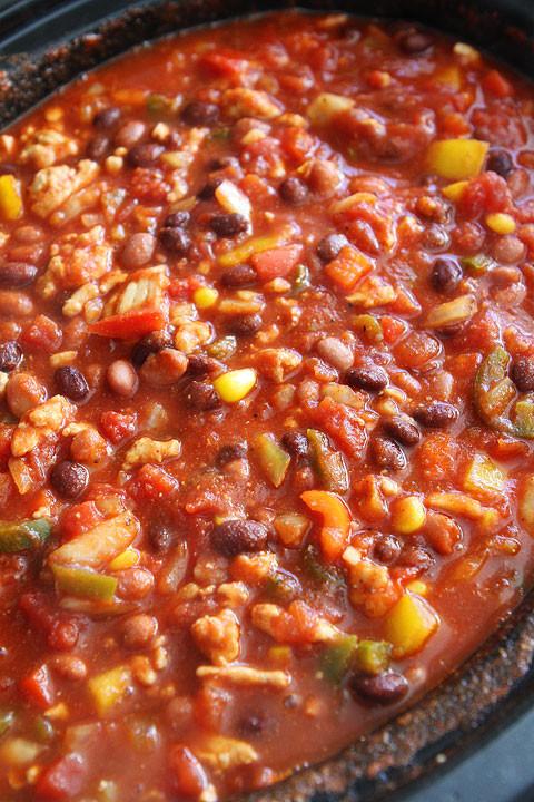 Healthy Turkey Chili Recipe Crock Pot  Slow Cooker Turkey Chili Healthy