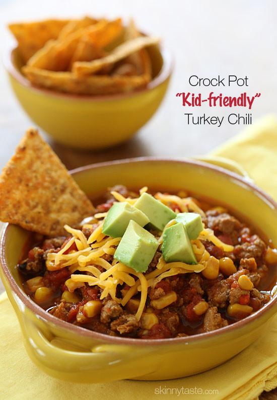 Healthy Turkey Chili Recipe Crock Pot  Crock Pot Kid Friendly Turkey Chili