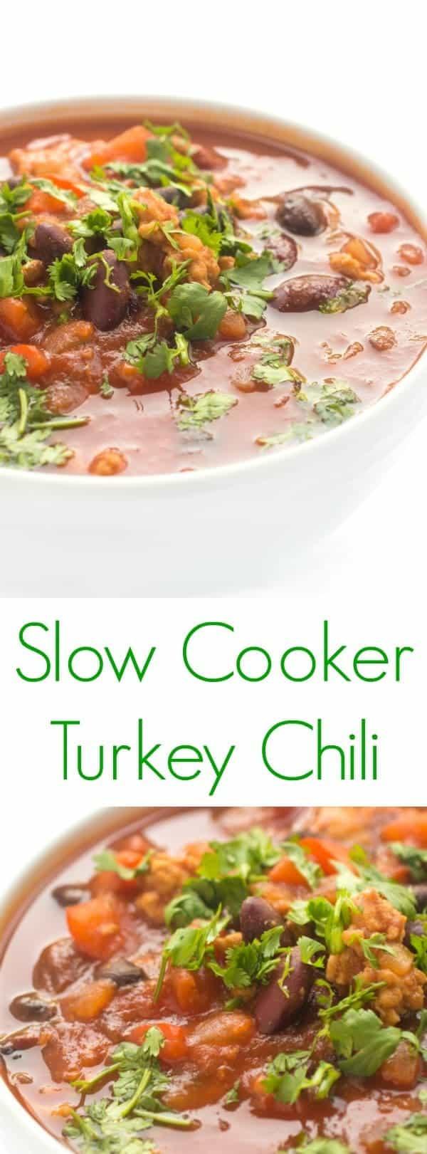 Healthy Turkey Chili Recipe Slow Cooker  Crock Pot Slow Cooker Turkey Chili The Lemon Bowl