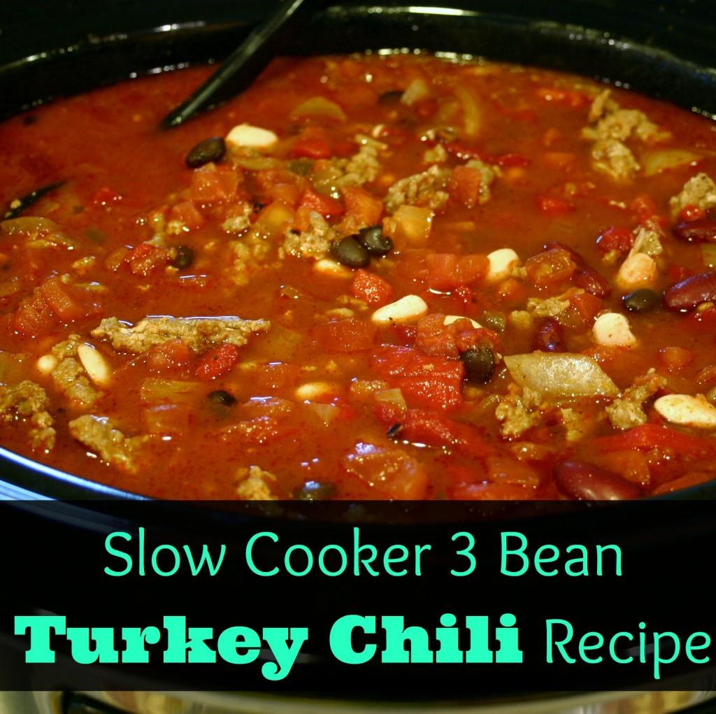 Healthy Turkey Chili Recipe Slow Cooker  Easy & Healthy Dinner Three Bean Turkey Chili Recipe